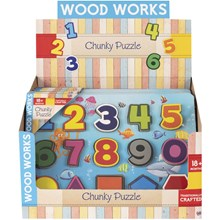WOOD WORKS - CHUNKY PUZZLE NUMBERS