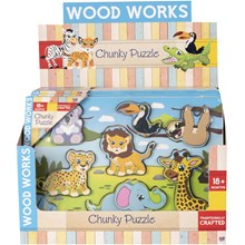 WOOD WORKS - CHUNKY PUZZLE ADVENTURE - 2ASST