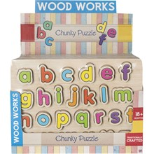 WOOD WORKS - CHUNKY PUZZLE ALPHABET