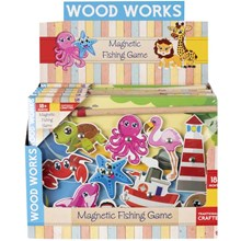 WOOD WORKS - MAGNETIC FISHING PUZZLE - 2ASST