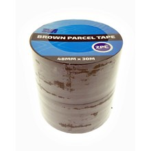 SWL - BROWN PARCEL TAPE 48MM X 30M - 2 PACK