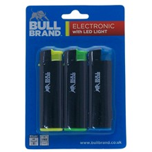 BULL BRAND LED LIGHTER - 3 PACK