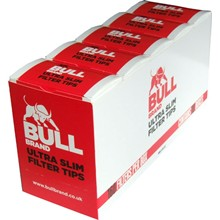 BULL BRAND ULTRA SLIM FILTER TIPS - 10 PACK