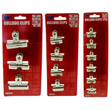 BULL DOG CLIPS 3 ASSORTED
