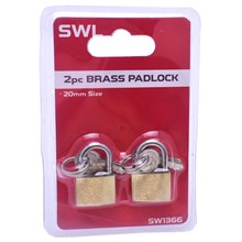 SWL - BRASS PADLOCK 20MM - 2 PACK