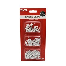 SWL - ASSORTED CABLE CLIP - 100 PACK