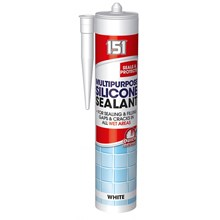 151 MULTIPURPOSE WHITE SILICONE SEALANT CARTRIDGE
