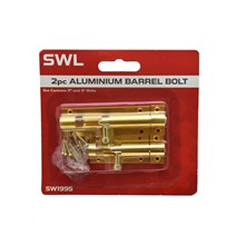 SWL - ALUMINIUM BARREL BOLT - 2 PACK