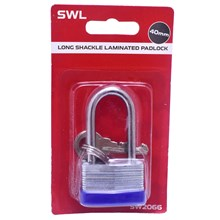 SWL - LONG SHACKLE PADLOCK - 40MM