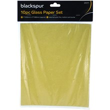 BLACKSPUR -  ASSORTED GRIT SANDPAPER -10 PACK