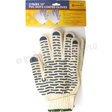 PVC DOT COATED GLOVES IN POLYBAG LARGE