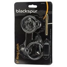 """BLACKSPUR - 6"""" POWDER COATED RING LATCH"""