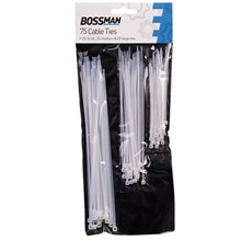 BOSSMAN - 75PC ASSORTED CABLE TIES