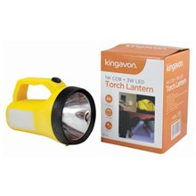 KINGAVON - 1W COB & 3W LED TORCH LANTERN