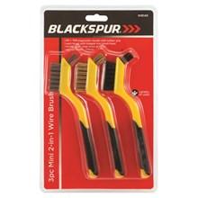BLACKSPUR - MINI 2IN1 WIRE BRUSH SET - 3 PACK