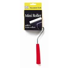 151 - MINI PAINT ROLLER W/ 6 FOAM ROLLERS