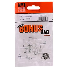 VALUE BRAND - CABLE CLIPS 8MM - 20PACK