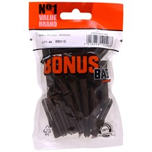 VALUE BRAND - BROWN WALL PLUGS - 45PACK