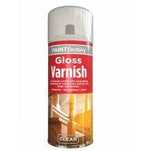 PAINT FACTORY - CLEAR GLOSS VARNISH SPRAY - 250ML