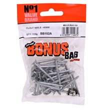 VALUE BRAND - 40MM CLOUT NAILS - 110G
