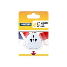 STATUS -  UK TOURIST ADAPTOR - CARDED
