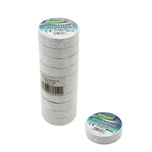 PVC INSULATION TAPE WHITE 20M - 10 PACK
