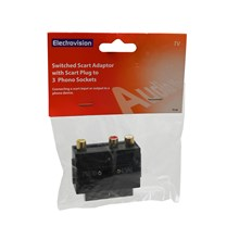 ELECTROVISION - SCART TO 3 PHONO - ADAPTOR