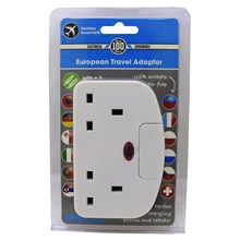 CONNECT-IT EU TRAVEL ADAPTOR 2 USB PORTS