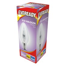 EVEREADY - ECO HALOGEN - CANDLE E14 - 40W