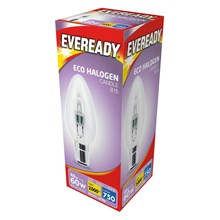 EVEREADY - ECO HALOGEN - CANDLE B15 - 60W