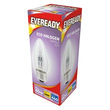EVEREADY ECO HALOGEN CANDLE E27 30W/40W