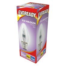 EVEREADY ECO HALOGEN CANDLE B22 46W/60W