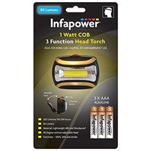 INFAPOWER 1W COB 3 FUNCTION HEAD TORCH