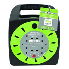PIFCO - 4 GANG 25M CABLE REEL