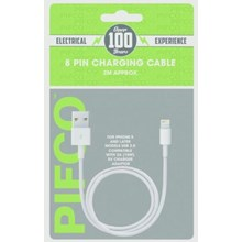 PIFCO - 8 PIN IPHONE CHARGING CABLE - 2M