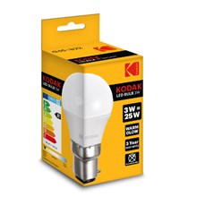 KODAK LED BULB G45 B22 3W - WARM WHITE