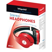 INFAPOWER - WIRELESS BLUETOOTH HEADPHONES - RED