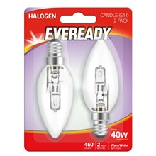 EVEREADY - ECO HALOGEN - CANDLE E14 - 40W - 2 PACK
