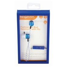 KINGAVON FASHION EARPHONES WITH MIC - BLUE