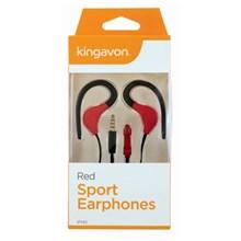 KINGAVON SPORT EARPHONES - RED