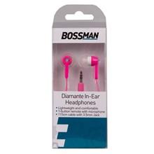 BOSSMAN - DIAMANTE IN-EAR HEADPHONES