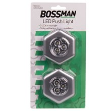 BOSSMAN - LED PUSH LIGHTS - 2 PACK