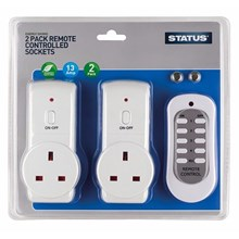 STATUS - REMOTE CONTROLLED SOCKETS - 2 PACK