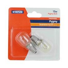 STATUS - SES E14 PYGMY BULB 15W - 2 PACK