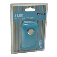 STATUS - LED WIND UP TORCH - BLUE