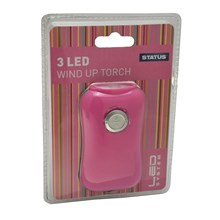 STATUS - LED WIND UP TORCH - PINK