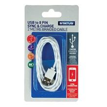 STATUS - 8PIN IPHONE CHARGING CABLE - 2M BRAIDED