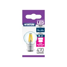 STATUS FILAMENT BULB- BC ROUND DAY LIGHT 4W/40W