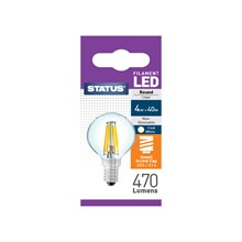 STATUS FILAMENT BULB- SES ROUND COOL WHITE 4W/40W