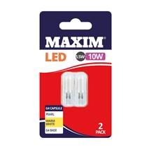 MAXIM LED BULB - G4 CAPSULEWARM WHITE 1.5W- 2 PACK